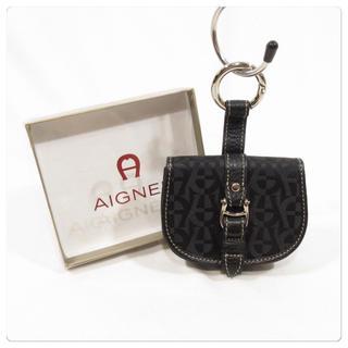 アイグナー(AIGNER)の美品■AIGNER アイグナー キーリング付き コインケース 小銭入れ 未使用品(コインケース)