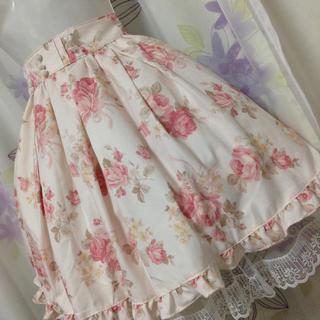 リズリサ(LIZ LISA)のリズリサ ロマンスローズ柄 ふんわり ミドルスカート(ひざ丈スカート)