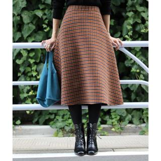 イエナスローブ(IENA SLOBE)の月の姫様専用 リバーシブルチェックスカート(ひざ丈スカート)