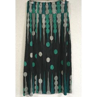 プリーツプリーズイッセイミヤケ(PLEATS PLEASE ISSEY MIYAKE)のPLEATS PLEASE スカート サイズ2 バックギャモン柄(ロングスカート)