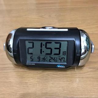セイコー(SEIKO)の目覚まし時計 大音量 SEIKO スーパーライデン 黒(置時計)