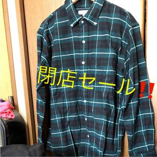 シマムラ(しまむら)の新品未使用品♡男女兼用♡緑 チェックシャツ♡大きいサイズ♡3L♡(シャツ)