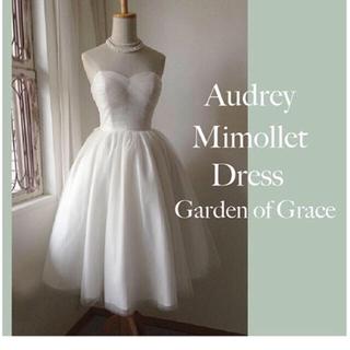 グレースコンチネンタル(GRACE CONTINENTAL)のgarden of grace ミモレドレス(ウェディングドレス)