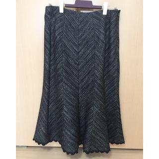 クレデヴェール(cledevers)のツイード素材 スカート(ひざ丈スカート)