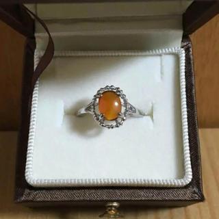 サンタモニカ(Santa Monica)のvintage orange stone ring (リング(指輪))