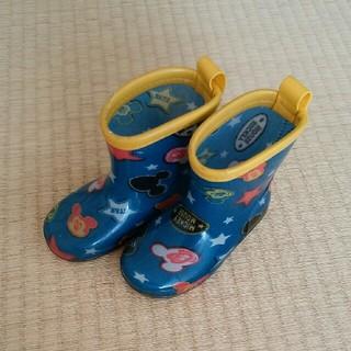 ディズニー(Disney)のキッズ 長靴 14cm ミッキー ブルー ネイビー レインシューズ ながぐつ (長靴/レインシューズ)