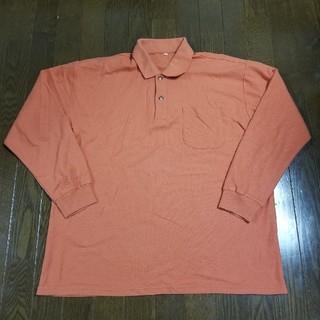 メンズ ポロシャツ XL  LL オレンジ(ポロシャツ)