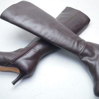 エレガンスヒミコ(elegance卑弥呼)の☆新品同様 elegance 卑弥呼 本革ブーツ24DBR☆A103(ブーツ)