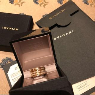 ブルガリ(BVLGARI)の新品に近い❣️ブルガリ ビーゼロYGダイヤモンド4バンドリング(リング(指輪))