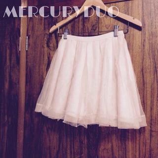 マーキュリーデュオ(MERCURYDUO)のラメチュールオーガンジースカート(ミニスカート)