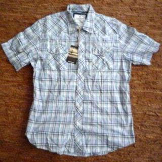 ズーヨーク(ZOO YORK)の新品ZOOYORK-ズーヨークチェックシャツXL白緑灰(シャツ)