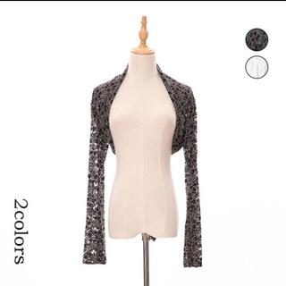 デイジーストア(dazzy store)のボレロ ブラック フラワー レース 長袖(ナイトドレス)
