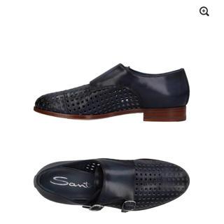 サントーニ(Santoni)のサントーニ SANTONI ネイビー モカシン(ローファー/革靴)