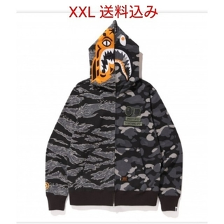 アベイシングエイプ(A BATHING APE)のUNDEFEATED×BAPE TIGERSHARK HALFZIPHOODIE(パーカー)