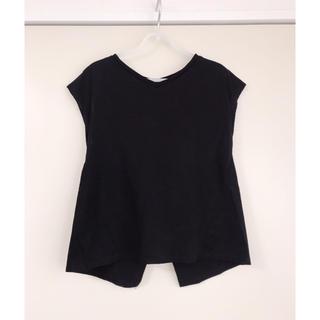 ソフィット(Soffitto)のSoffitto ソフィット トップス ブラック ノースリーブ 袖なし(Tシャツ(半袖/袖なし))