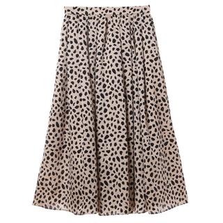 トランテアンソンドゥモード(31 Sons de mode)の美品 レオパード柄スカート(ロングスカート)