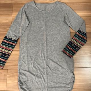 リュリュ(RyuRyu)の袖が可愛いロンT  丈長め  ryuryu  Lサイズ(Tシャツ(長袖/七分))