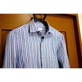 ギローバー(GUY ROVER)の【美品】ギローバー ストライプワイドカラーシャツ 40 15 3/4(シャツ)
