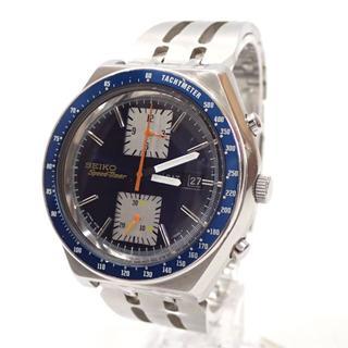 セイコー(SEIKO)のA700 中古 セイコー スピードタイマー 自動巻き 角目 6138-0030(腕時計(アナログ))