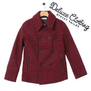 レディース DELUXE CLOTHING ウールピーコート sizeS レッド