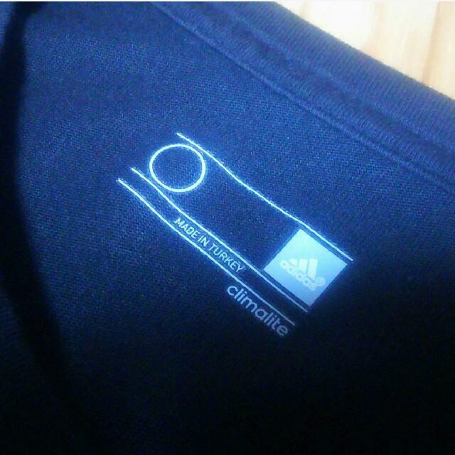 adidas(アディダス)のadidas アディダス Tシャツ ☆黒☆ビックロゴ☆ メンズのトップス(Tシャツ/カットソー(半袖/袖なし))の商品写真