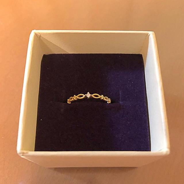 agete(アガット)のk18 リング SIENA シエナ ダイヤモンド レディースのアクセサリー(リング(指輪))の商品写真