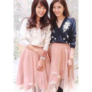 チェスティ(Chesty)の完売品‼️Chesty Shiny Flower Skirt(ひざ丈スカート)