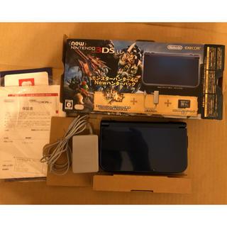 ニンテンドー3DS(ニンテンドー3DS)の【送料無料】任天堂3DSLL モンスターハンター4GNEWハンターパック(携帯用ゲーム機本体)