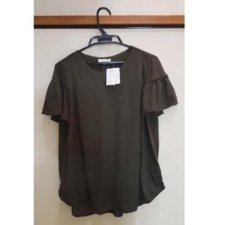 アカチャンホンポ(アカチャンホンポ)の新品 授乳服 袖フリルトップス(マタニティトップス)