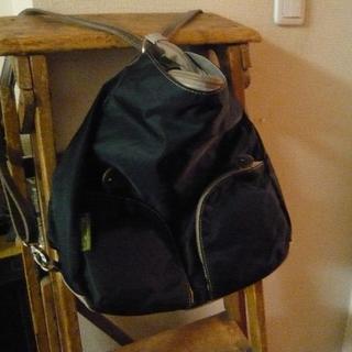 サック(SAC)の新品タグ付SACサックペシェ*超軽量リュックにもなるナイロン製3WAYバッグ黒(ショルダーバッグ)
