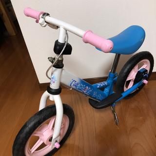 ディズニー(Disney)のアナ雪  D-Bike ブレーキ付 自立式 足乗せステップ ペダル無し二輪車(パーツ)