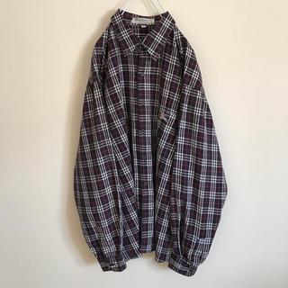 バーバリー(BURBERRY)のBurberry LONDON ノバチェック シャツ XL ホースロゴ ネイビー(シャツ)
