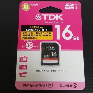 ティーディーケイ(TDK)の【新品未開封品】TDK SDHCメモリーカード 16GB UHS-1 クラス10(その他)