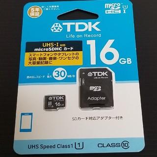 ティーディーケイ(TDK)の【新品未開封品】TDK microSDHCメモリーカード  16GB クラス10(その他)