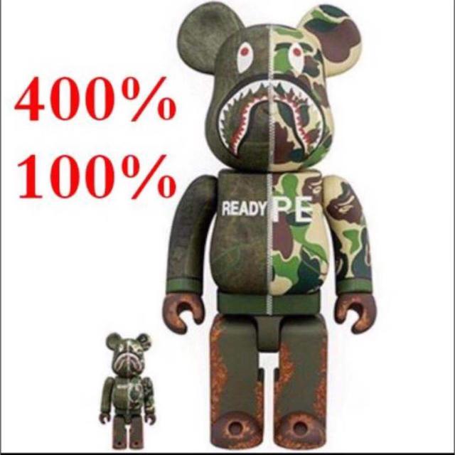 A BATHING APE(アベイシングエイプ)のREADYMADE x A BATHING APE 400% 100%  エンタメ/ホビーのおもちゃ/ぬいぐるみ(キャラクターグッズ)の商品写真