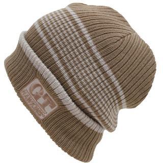 ジーティーホーキンス(G.T. HAWKINS)のG.T.HAWKINS G.T.ホーキンスニット帽 ボーダー柄★ベージュ【新品】(ニット帽/ビーニー)
