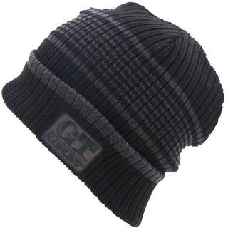 ジーティーホーキンス(G.T. HAWKINS)のG.T.HAWKINS G.T.ホーキンスニット帽 ボーダー柄★ブラック【新品】(ニット帽/ビーニー)