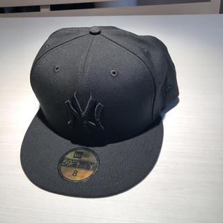 ニューヨークハット(NEW YORK HAT)のNY ハット 帽子 ニューヨークヤンキース 黒 8インチ(キャップ)