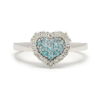 k18 ダイヤモンド 0.27カラット+0.17ct ハートリング 指輪(リング(指輪))
