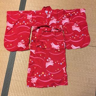ミキハウス(mikihouse)のミキハウス 女児浴衣 110㎝(甚平/浴衣)