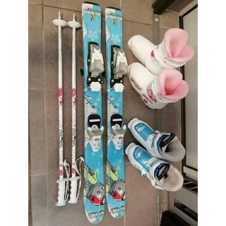ディナスター(DYNASTAR)の着払いです。子供 スキー ブーツ 板 ストック セット (板)