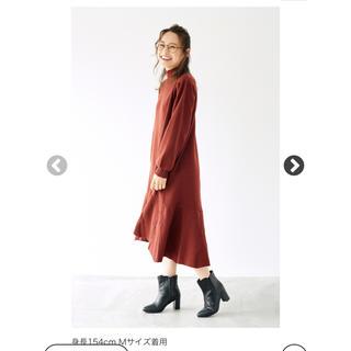 ハコ(haco!)の即購入可 フレアーヘムラインニット ワンピース 高橋愛(ロングワンピース/マキシワンピース)