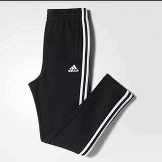 アディダス(adidas)のアディダス 3ストライプス スウェット パンツ 裏起毛 新品 キッズ 140(パンツ/スパッツ)