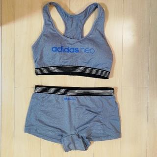 アディダス(adidas)の美品 アディダスネオ ブラ ショーツ Mサイズ(ブラ&ショーツセット)