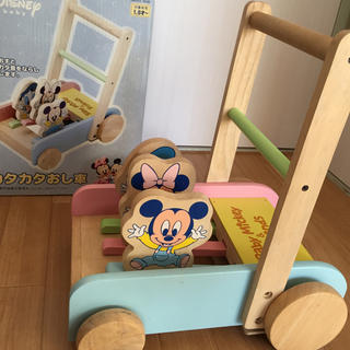 ディズニー(Disney)のディズニー カタカタ 手押し車 木のおもちゃ(手押し車/カタカタ)