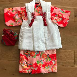 難あり 七五三 3歳 女の子 被布 着物 セット(和服/着物)