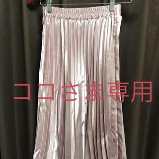 アンティックラグ(antic rag)のanticrag サテンプリーツスカート くすみピンク(ひざ丈スカート)
