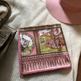 アッシュペーフランス(H.P.FRANCE)のMALFROY シルク スカーフ ピンク フランス製(バンダナ/スカーフ)