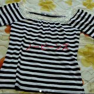 ノービーンズ(KNOW BEANS)のボーダートップス☆(Tシャツ(半袖/袖なし))