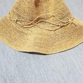 ムジルシリョウヒン(MUJI (無印良品))の無印ラフィアハットベージュ(麦わら帽子/ストローハット)